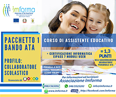 pacchetto 1 assistente educativo e eipass 7 moduli user